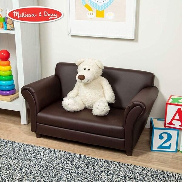 Child's Sofa, Coffee Faux Leather Children's Furniture