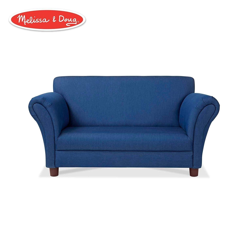 Child\'s Sofa Blue Denim Children\'s Furniture