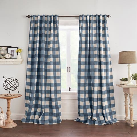 The Gray Barn Holly Buffalo Check Blackout Window Curtain