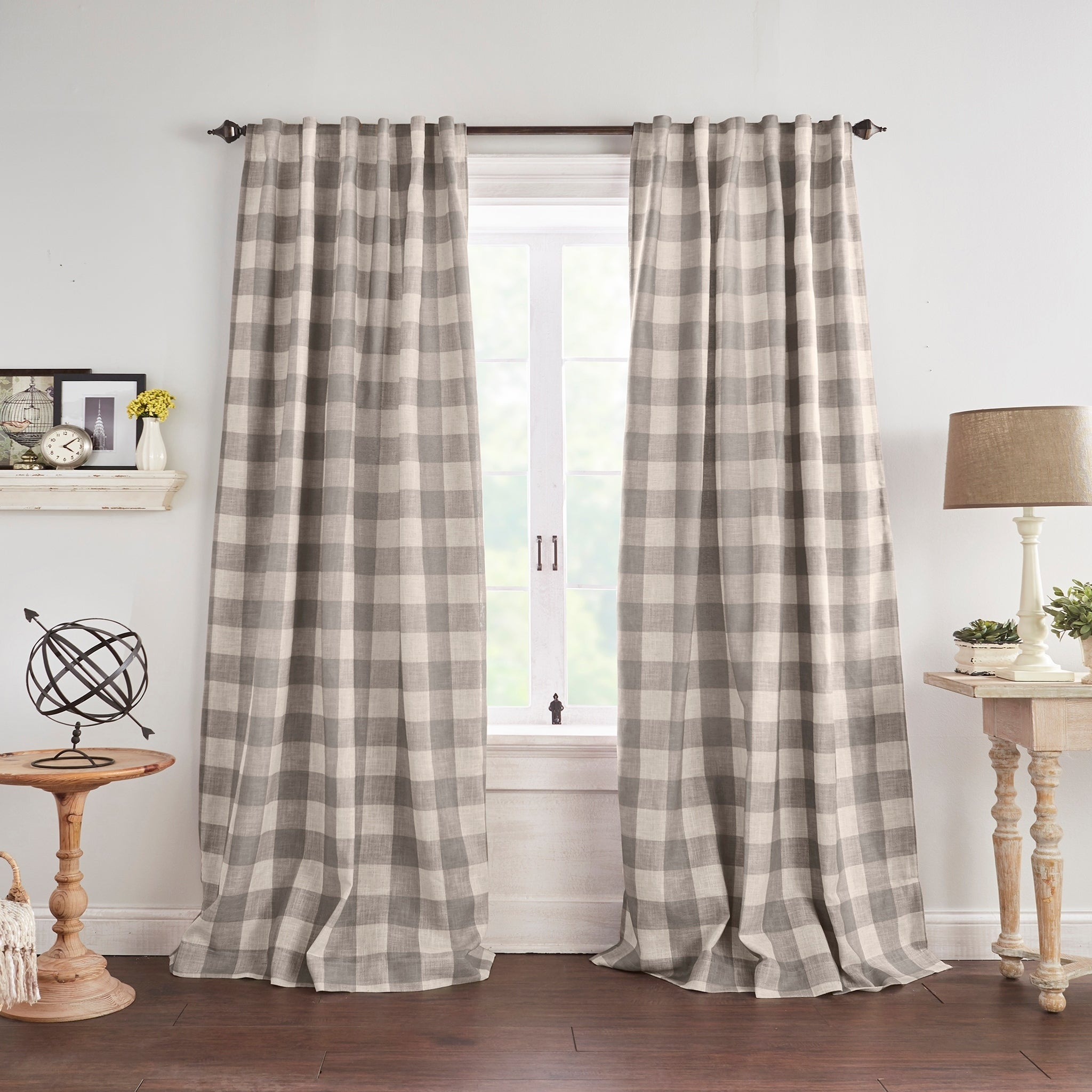 The Gray Barn Holly Buffalo Check Blackout Window Curtain On Sale Overstock 28773408