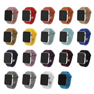 Solid Silicone Band Watch for Apple Watch