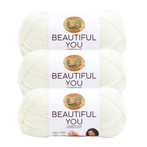 Lion Brand Yarn Beautiful You Sugar Swizzle 165-100 3 Pack Fashion Yarn