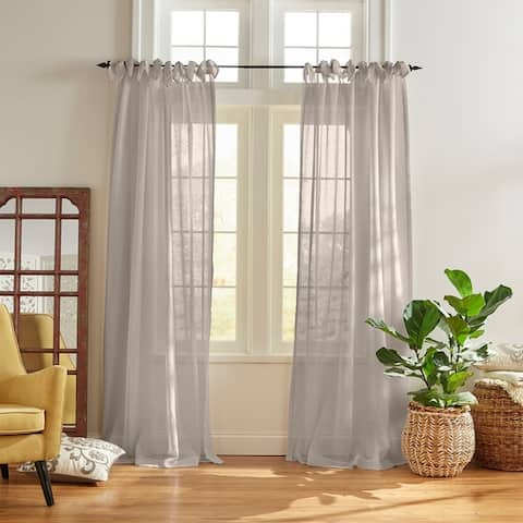 The Curated Nomad Parkhurst Tie-top Sheer Window Curtain