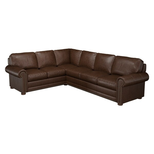 Made to Order Mondial 100% Top Grain Leather Sectional - Right Arm Facing