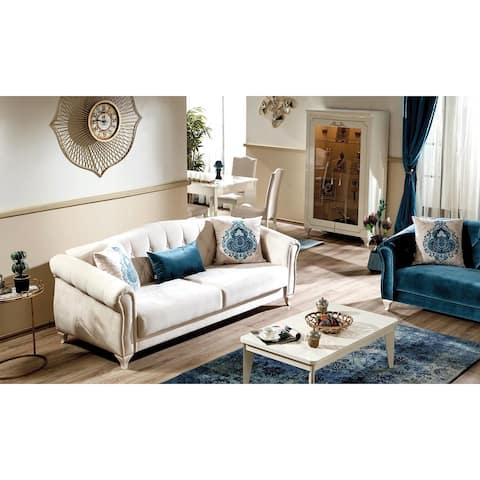 Florissa Convertible Sofa Sleeper ( Ivory White)