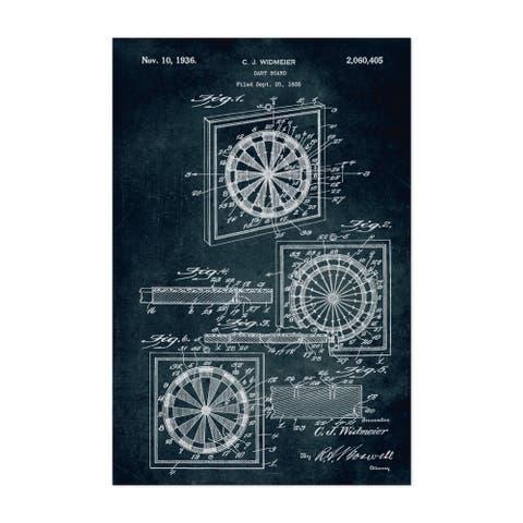 Noir Gallery Dart Board Game Patent Print Unframed Art Print/Poster