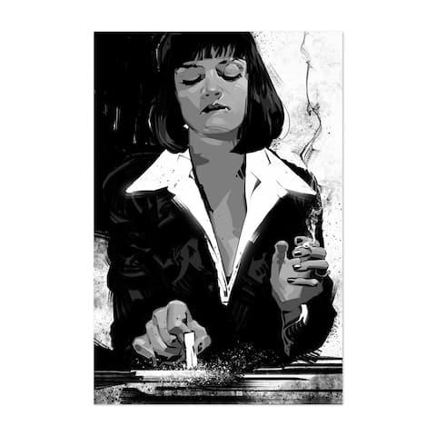 Noir Gallery Mia Wallace Pulp Fiction Movie Unframed Art Print/Poster