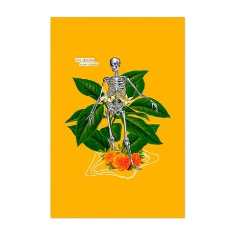 Noir Gallery Skeleton Floral Botanical Collage Quote Unframed Art Print/Poster