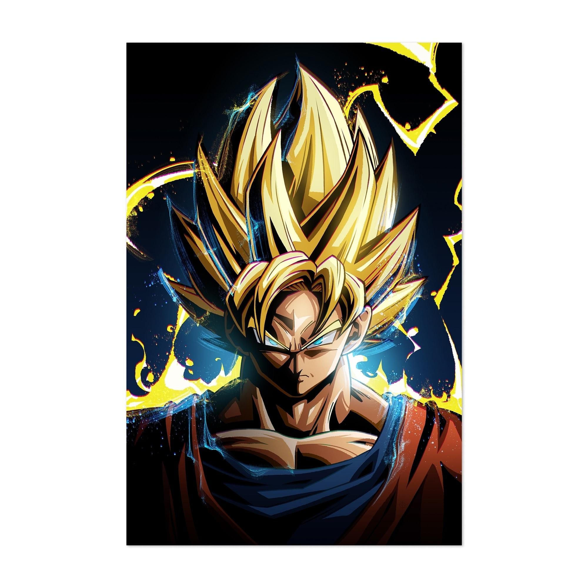 US Seller decoration art Dragon Ball Z Goku anime art poster