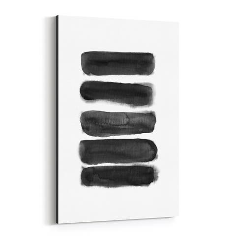 Noir Gallery Minimal Watercolor Black Abstract Canvas Wall Art Print