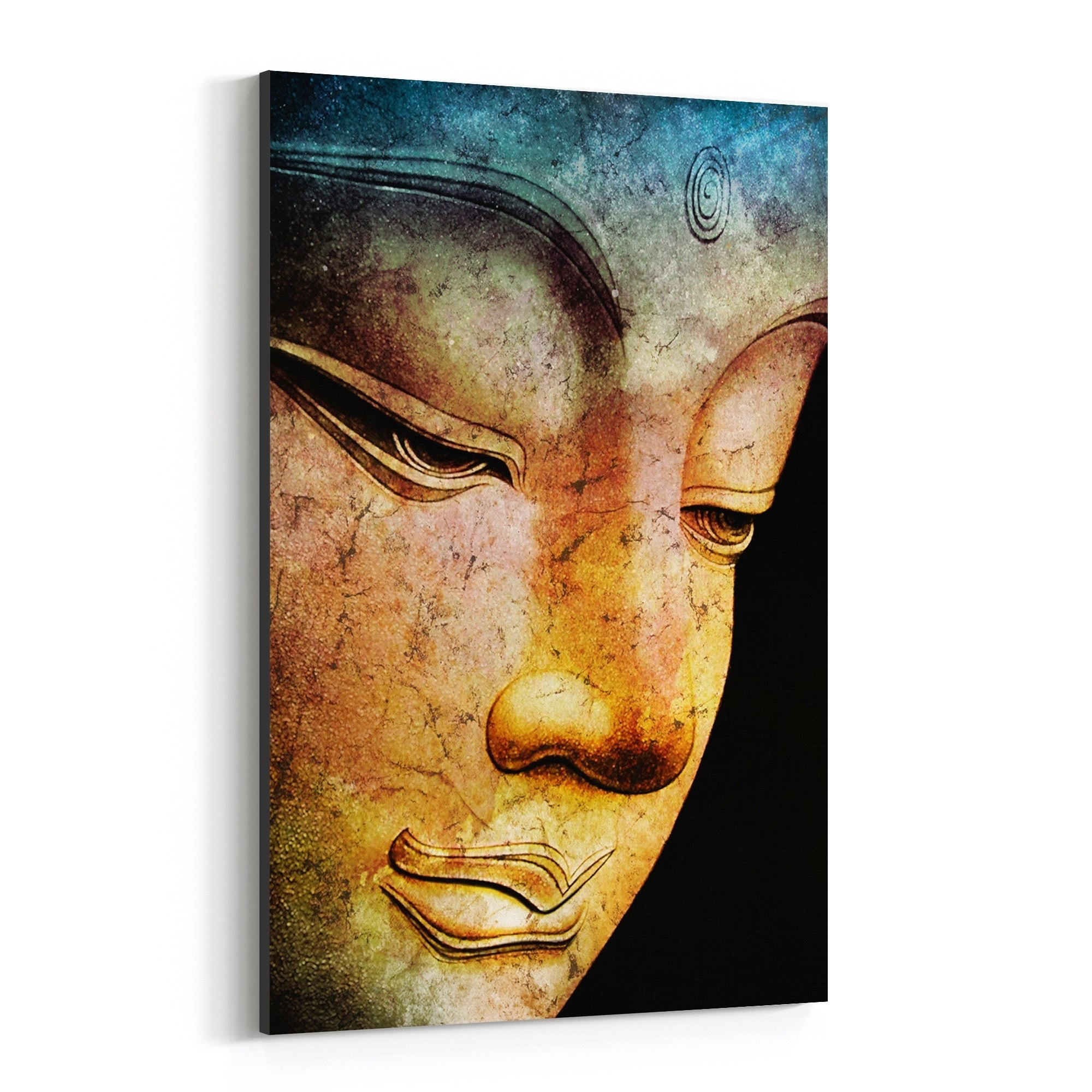 Ancient Buddha Fine Art Giclee Canvas Print