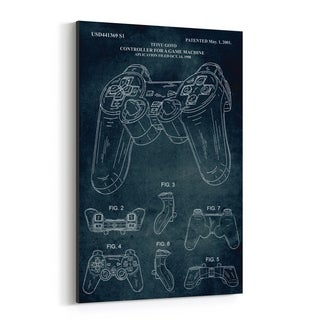 Noir Gallery Playstation Video Game Patent Print Canvas Wall Art Print