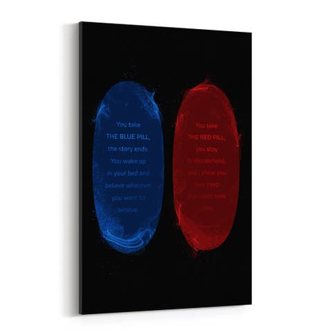 Noir Gallery Red Pill Blue Pill The Matrix Canvas Wall Art Print
