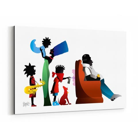 Noir Gallery African American Simpsons Culture Canvas Wall Art Print