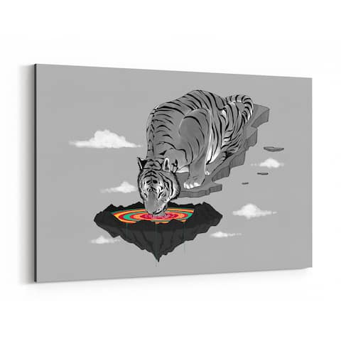 Noir Gallery Tiger Funny Animal Humor Canvas Wall Art Print