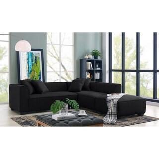 Porch & Den Pexni Sectional Sofa with Ottoman