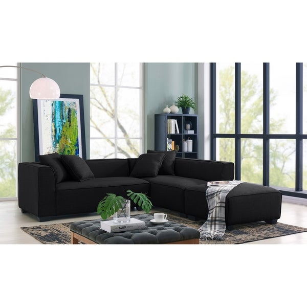 Porch & Den Pexni Sectional Sofa with Ottoman