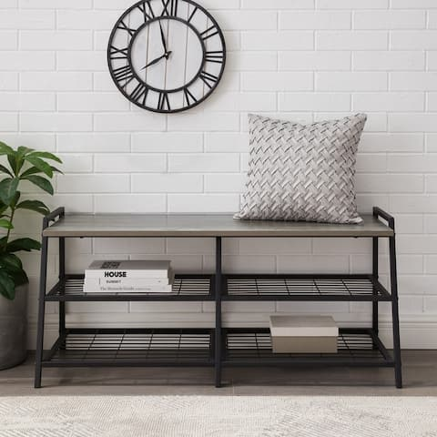 Carbon Loft Lahuri 42-inch Industrial Shelf Entry Bench