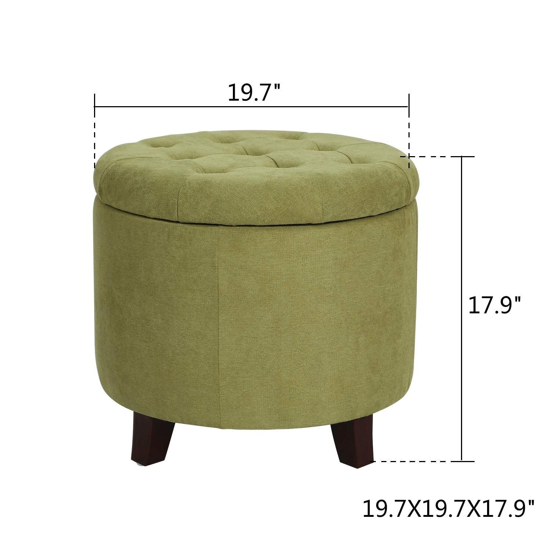 Adeco Fabric Cushion Round On