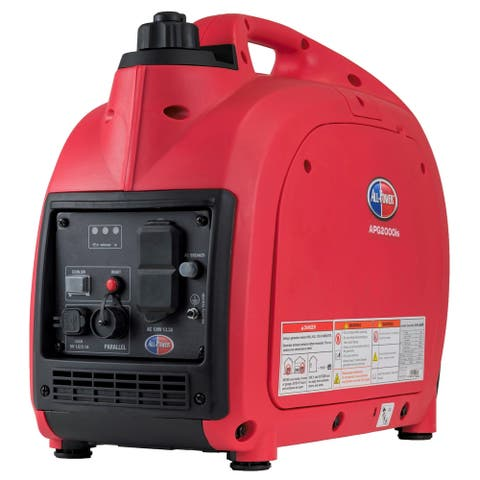 All Power 2000-Watt Gas Powered Portable Inverter Generator with Parallel Function Ready