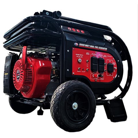 All Power 10,000-Watt Dual Fuel Electric Start Portable Generator Relaunched Edition