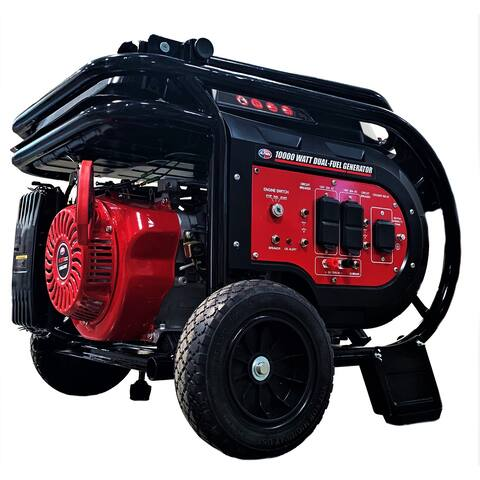 10,000-Watt Dual Fuel Electric Start Portable Generator Relaunched Edition