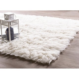 Link to Porch & Den Merryman Greek Wool Flokati Shag Rug Similar Items in Shag Rugs