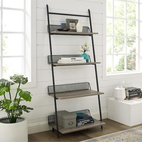 "Carbon Loft 64"" Industrial Ladder Bookshelf"