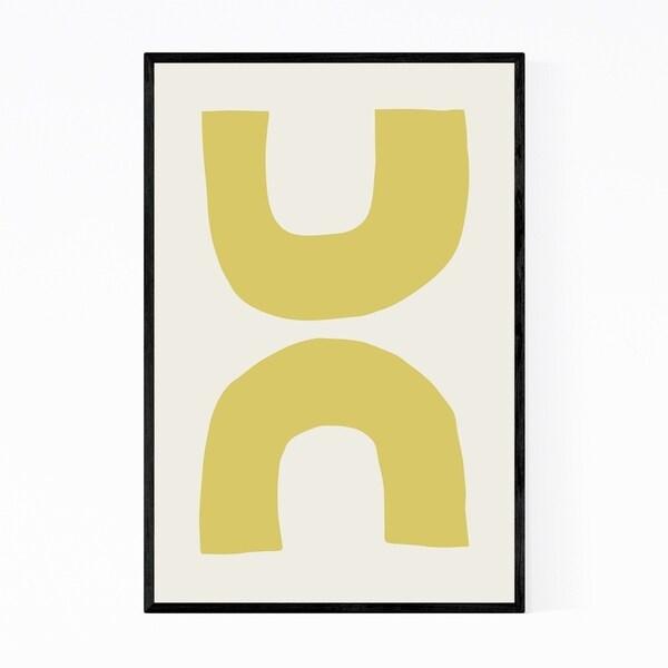 Noir Gallery Pastel Abstract Minimal Shapes Framed Art Print