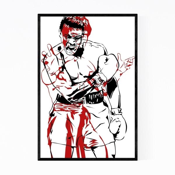 Noir Gallery Bruce Lee Muhammad Ali Framed Art Print