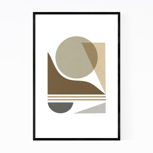 Noir Gallery Modern Abstract Geometric Collage Framed Art Print