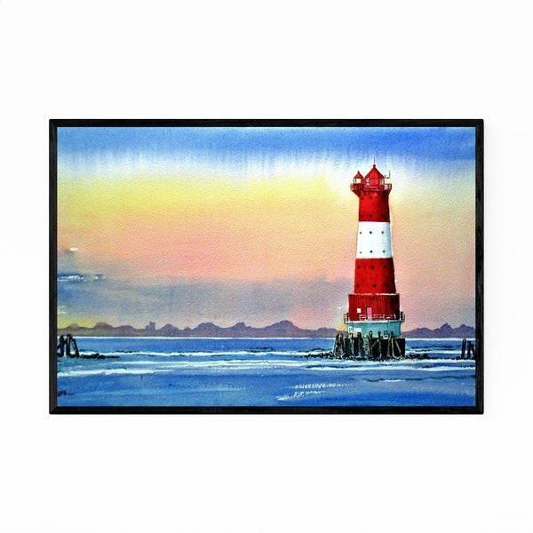 Noir Gallery Lighthouse Landscape Painting Framed Art Print