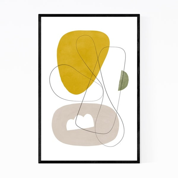 Noir Gallery Pastel Abstract Minimal Shapes Framed Art Print