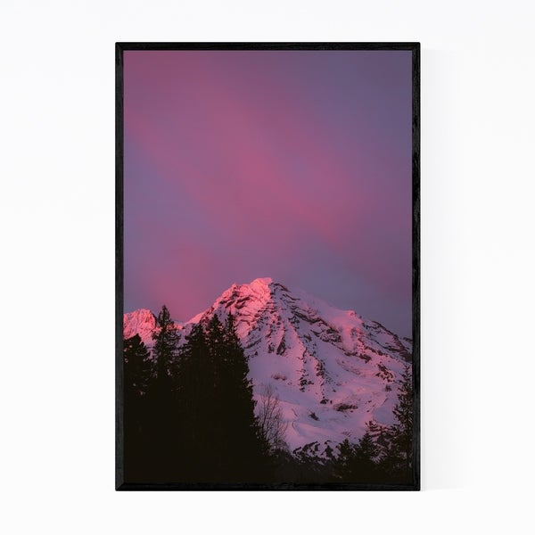 Noir Gallery Mt. Rainier Washington Nature Framed Art Print