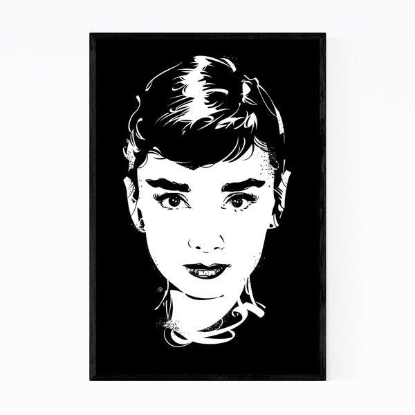 Noir Gallery Audrey Hepburn Fashion Feminine Framed Art Print