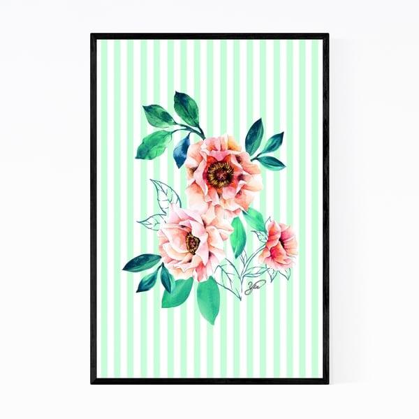 Noir Gallery Floral Peony Watercolor Pastel Framed Art Print