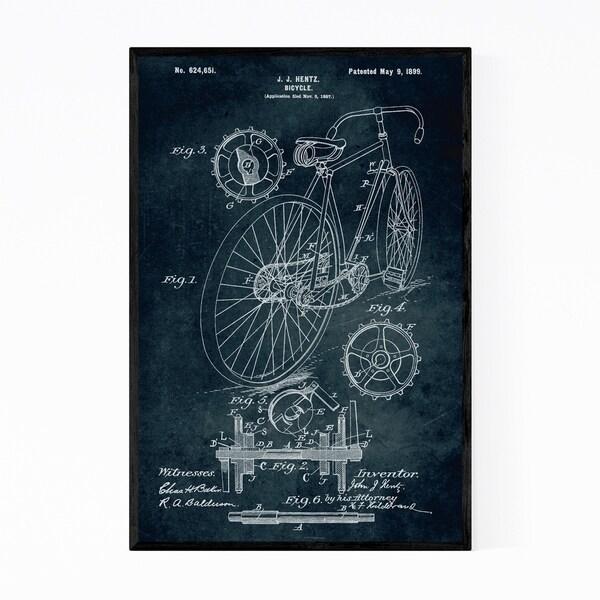 Noir Gallery Bicycle Patent Print Framed Art Print