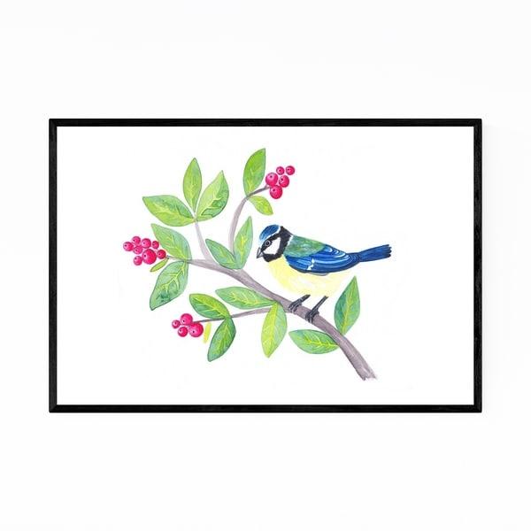 Noir Gallery Eurasian Blue Tit Bird Animal Framed Art Print