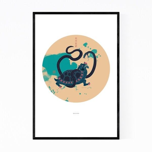 Noir Gallery Black Tortoise Chinese Illustration Framed Art Print