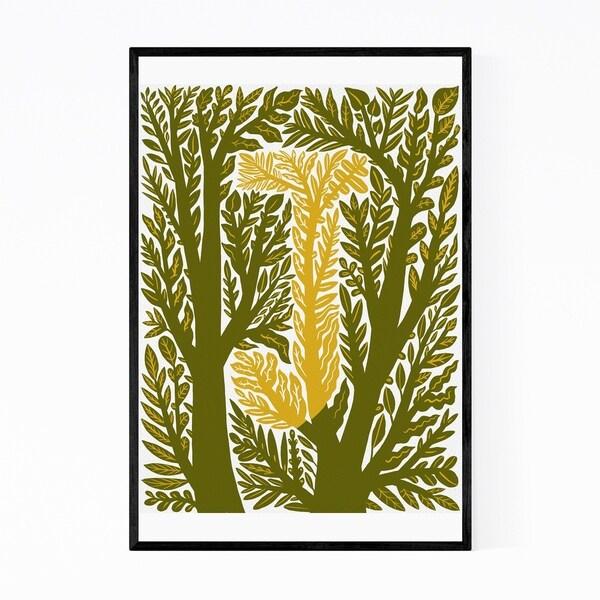 Noir Gallery Alphabet Letter J Monogram Framed Art Print
