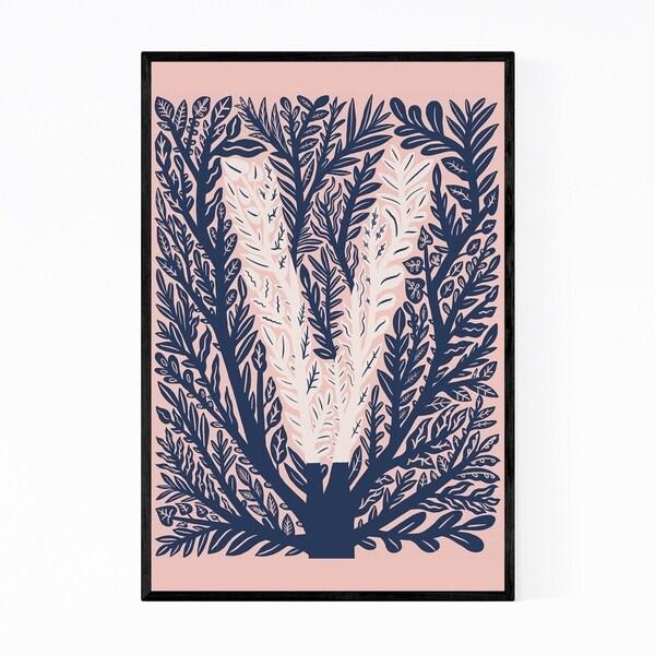Noir Gallery Alphabet Letter V Monogram Framed Art Print