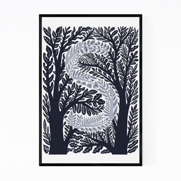 Noir Gallery Alphabet Letter S Monogram Framed Art Print