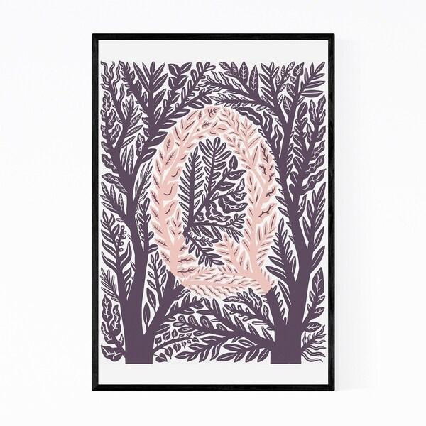 Noir Gallery Alphabet Letter Q Monogram Framed Art Print