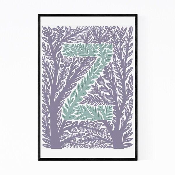 Noir Gallery Alphabet Letter Z Monogram Framed Art Print