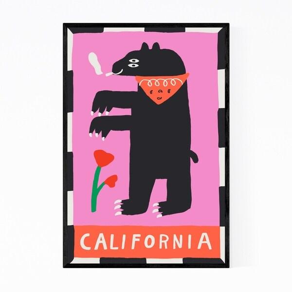 Noir Gallery California State Flag Framed Art Print