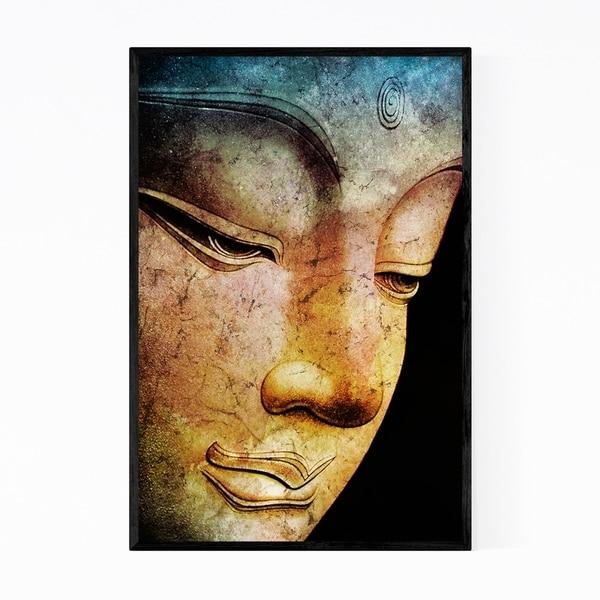 Noir Gallery Calm Buddha Illustration Framed Art Print