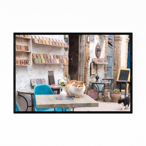 Noir Gallery Cats Morocco Cafe Framed Art Print