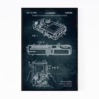 Noir Gallery Gameboy Video Game Patent Print Framed Art Print