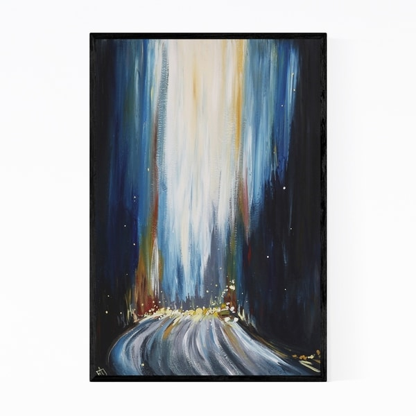 Noir Gallery Urban Abstract Cityscape Painting Framed Art Print
