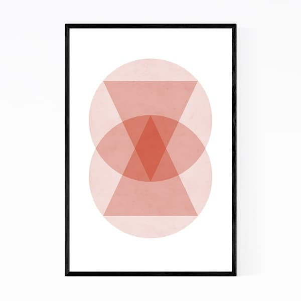 Noir Gallery Pastel Abstract Minimal Geometric Framed Art Print